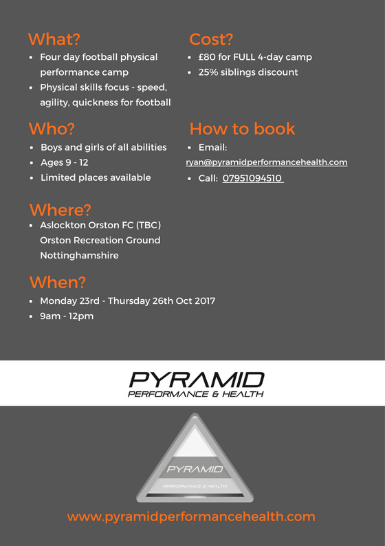 Back Pyramid Football Performance Camp - Oct 17
